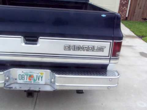 1985 Chevy Silverado Shortbed Truck and Engine