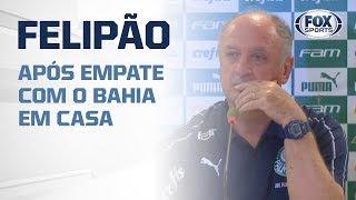 PALMEIRAS EMPATA COM O BAHIA EM CASA - FELIPÃO FALA AO VIVO