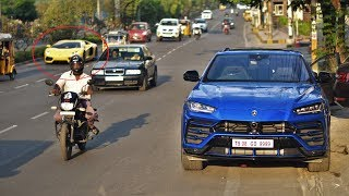 First Lamborghini URUS SUV in Hyderabad(INDIA)!!