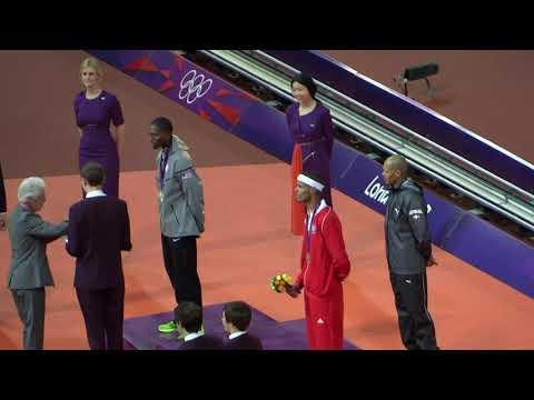 Felix Sanchez London Olympics Men's 400 Metres Hurdles Final Gold Medal