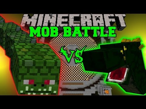 Naga Vs Basilisk - Minecraft Mob Battles - Arena Battle - Twilight Forest And Orespawn Mod Battle video