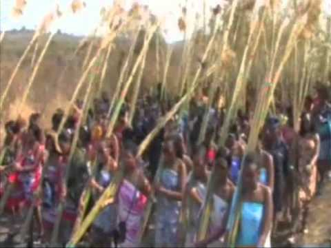 The Swaziland Reed Dance Festival Walk Of 2010 video