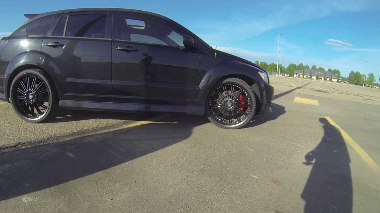 Blacked Out Dodge Caliber Srt 4 On 22 Quot Rims Walk Around