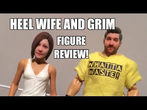 GTS ACTION INSIDER: Grim and Heel Wife custom WWE Wrestling Action Figures review