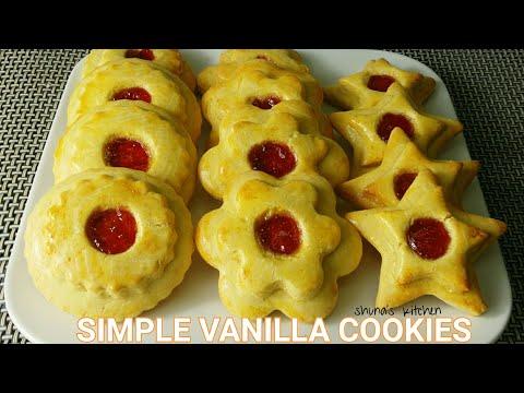 Vileja vya jam na vanilla - Simple vanilla cookies