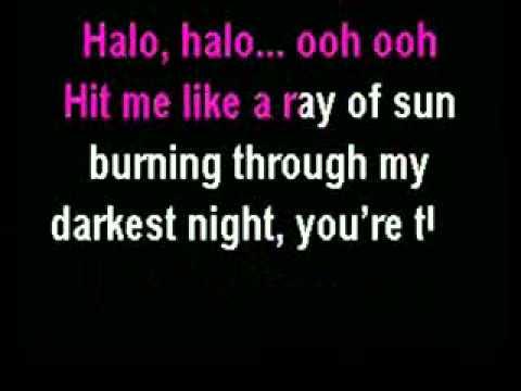 Beyonce - Halo (karaoke Instrumental) With Lyrics video