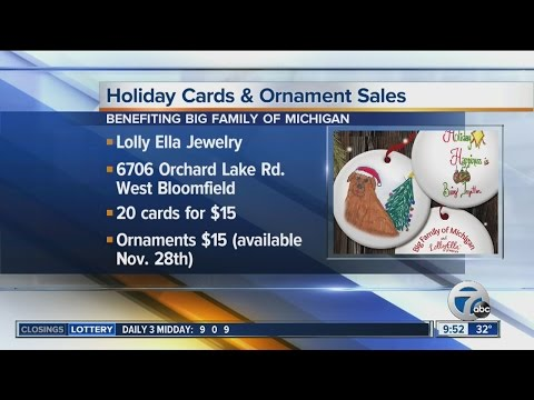 Holiday cards and ornament sale