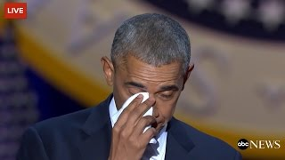 download Obama Cries While Talking About Michelle Obama Video