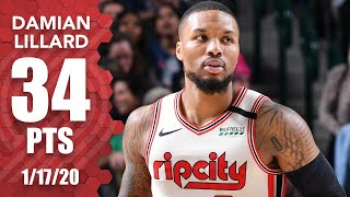 Damian Lillard goes for 34 points in Trail Blazers vs. Mavericks | 2019-20 NBA Highlights