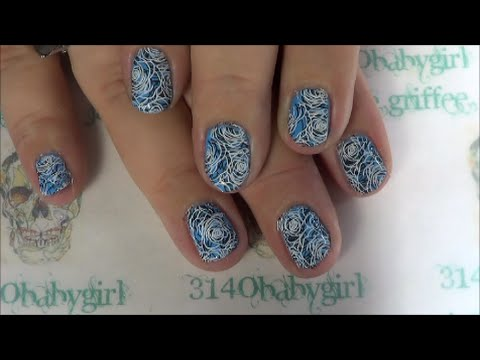 Double Stamping on Short Nails~Moyra Stamping~