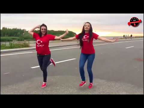 turkish girls dance on pashto song - beautiful - robotic dance