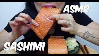 ASMR Salmon Sashimi (EXTREME SAVAGE EATING) Whole Big Slice NO TALKING   SAS-ASMR