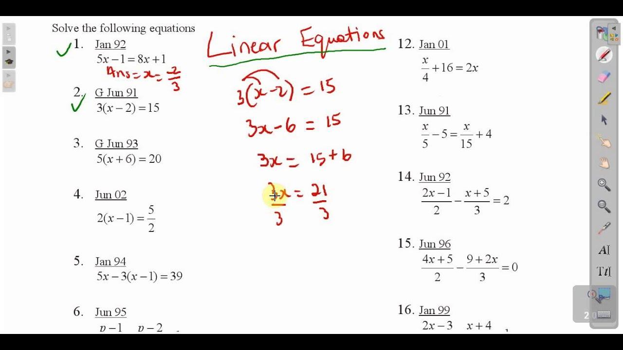 Math homework help solving equations
