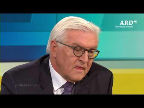 Farbe bekennen mit Frank Walter Steinmeier, 12.02.17, ARD Hauptstadtstudio