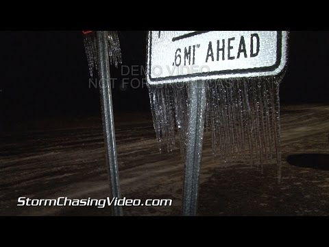 2/12/2014 Manning South Carolina Ice Storm B-Roll