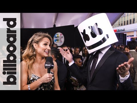 Marshmello on Working With Selena Gomez for 'Wolves' | AMAs 2017 thumbnail