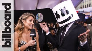 Download Lagu Marshmello on Working With Selena Gomez for 'Wolves' | AMAs 2017 Gratis STAFABAND