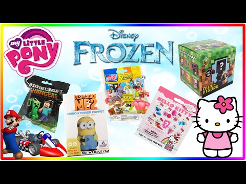 Surprise Blind Bag Spongebob Mario Surprise Egg Frozen Hello Kitty My Little Pony Surprise Eggs video