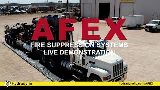 Hydradyne AFEX Fire Suppression Demonstration