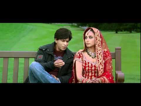 Kabhi Alvida Naa Kehna - Shahrukh & Rani first Meeting on bench with Title Sad Song 2 - High Quality
