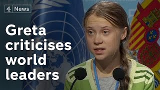 Greta Thunberg's speech at UN climate change conference