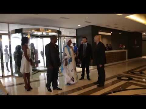 Hotel conakry palm camayenne opening 2013 youtube for Appart hotel montpellier avec piscine