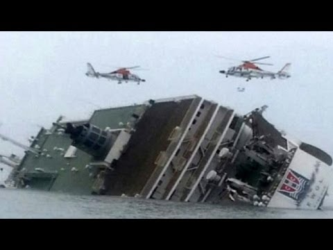 South Korea Ferry Sinks With Hundreds Of Children On Board, Almost 295 People Missing video