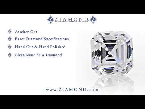 Asscher Cut Loose Stones Best Diamond Quality Cubic Zirconia Russian Formula By Ziamond