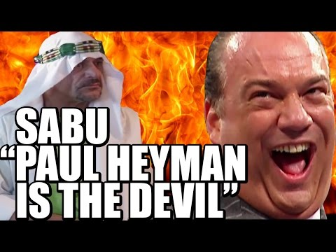 "MUST SEE - Sabu ""Paul Heyman is The Devil"""