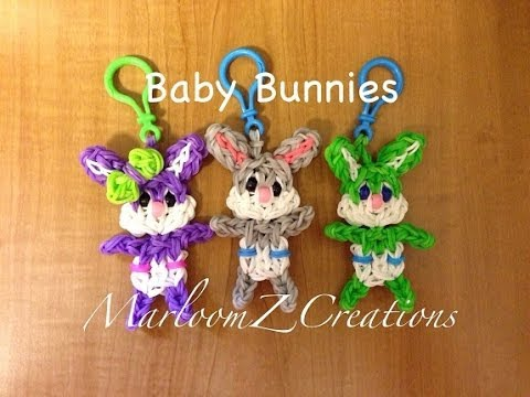 Rainbow Loom Baby Easter Bunny: How To: conejito bebe