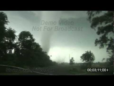 5/24/2011 Canton, OK close up tornado B-Roll stock footage