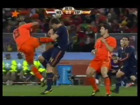Foul From Nigel De Jong VS Spain In The Final