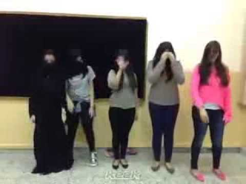 Girls dance at the university in Saudi Arabia is very sexy