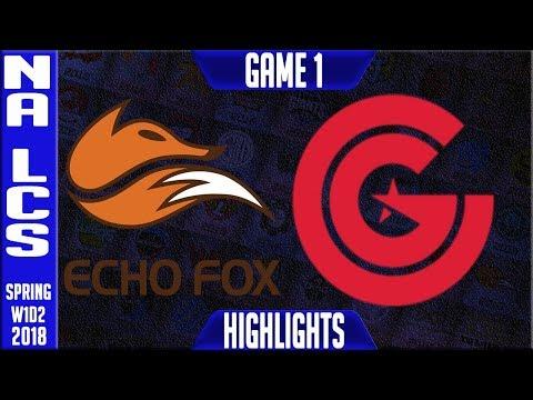 FOX vs CG Highlights | NA LCS Spring 2018 S8 W1D2 | Echo Fox vs Clutch Gaming Highlights