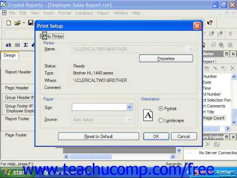 Crystal Reports Tutorial Creating Subreports Business Objects ...