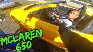 MCLAREN 650 PULLS ON SUPERBIKE!! FUN WITH LOUD MUSTANG GT350! | BMW S1000RR