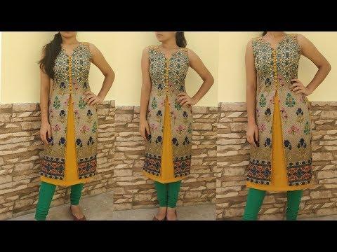 Easy and step by step stylish cotton kurti cutting and stitching