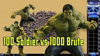 Red Alert 2 & Yuri's Revenge - 100 Infantry vs 1000 Brute - Epic experiments
