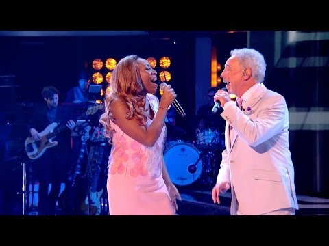 Sir Tom Jones & Sasha Simone perform River Deep Mountain High - The Voice UK 2015 - BBC