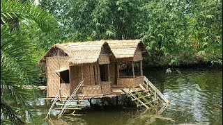 Swimming Pool House Making By Smart Village Boys - Build House On Fish Farming Ponds Water