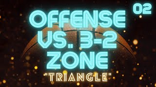 """Triangle"" Offense vs. 3-2 or 1-2-2 Zone Defense"