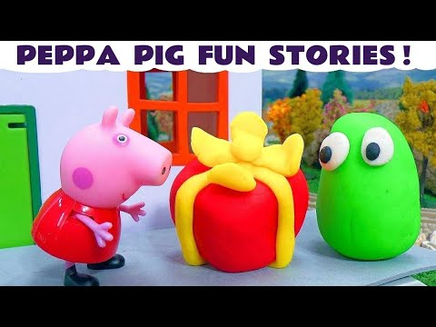 Peppa Pig Thomas and Friends Play-Doh Surprise Toys Pepa Story Surprise Play Doh Eggs Свинка Пеппа