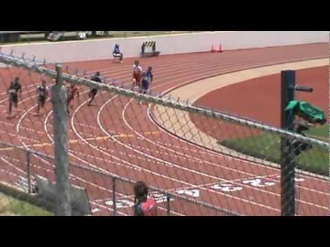 Willie Leggett 200meters 2012  youth nat'l Dallas, TX.mpg