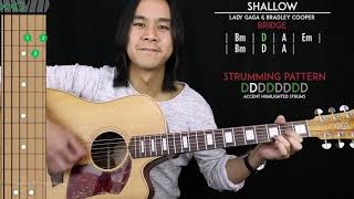 Shallow Guitar Cover - Lady Gaga & Bradley Cooper 🎸 |Tabs + Chords|
