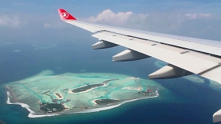 Turkish Airlines A330-300 Istanbul-Malé-Colombo Safety, Takeoff, Inflight, Landing TK730