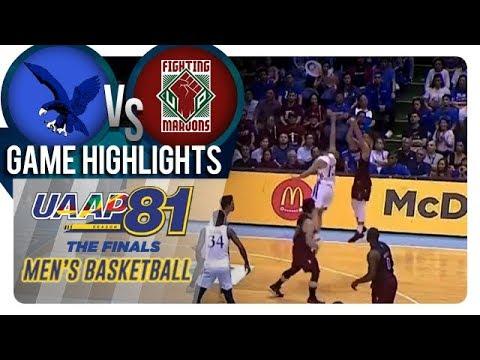UAAP 81 MB Finals - Game 2: ADMU vs UP  Game Highlights  December 5 2018