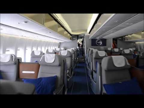 Lufthansa B747-8i Business Class Flight LAX-FRA