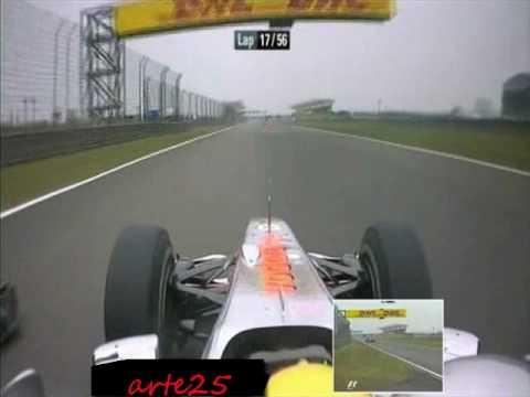 Hamilton pases Schumacher chinese 2010 China overtakes Schumacher Hamilton 2010