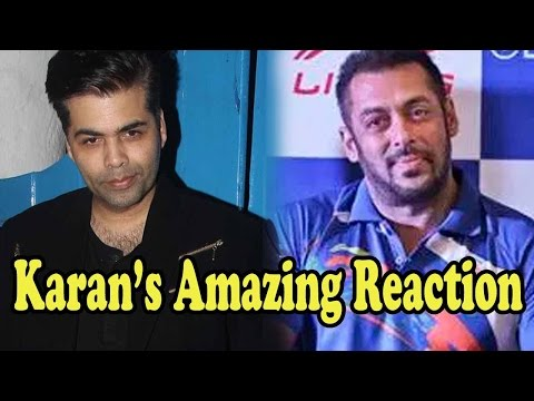 Karan Johar's Amazing Reaction On Salman Khan Appointed As A Brand Ambassador For Olympics 2016