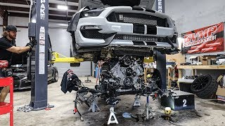 Pulling my blown up GT350's engine..